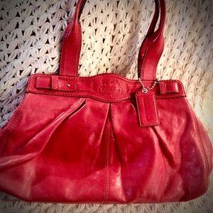 Beautiful Rare Deep pink COACH Satchel EUC!!